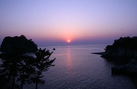 西伊豆 堂ヶ島温泉 夕日